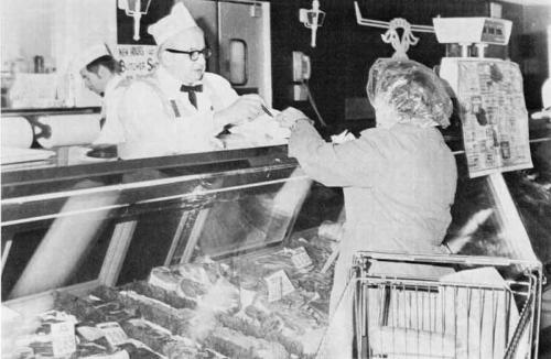 Walt's history meat counter